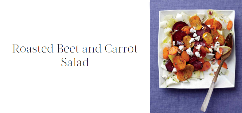 roasted beet carrot salad