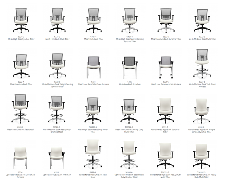 vion office chair models