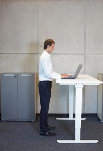 standing height desk