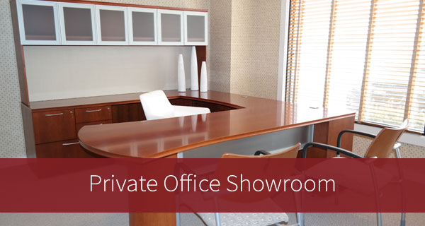 private office furniture showroom